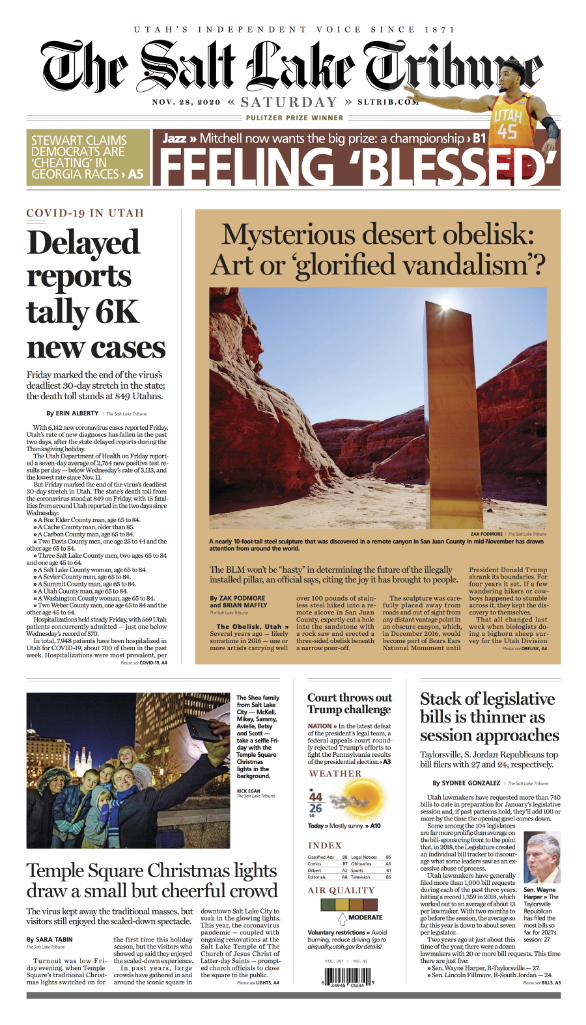 Tribune subscribers will start receiving a weekly print edition this week.