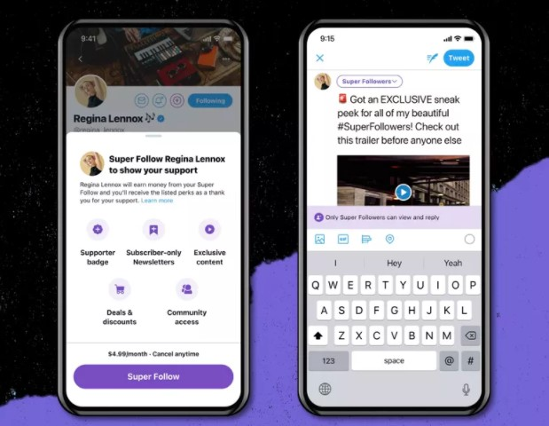 Twitter's first subscription feature will be Super Follow.