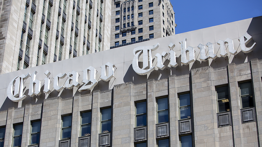 The former home of the Chicago Tribune, the flagship property of Tribune Publishing