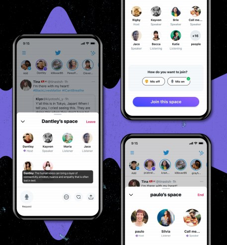 Twitter Spaces is an audio chat feature that will be similar to Clubhouse.