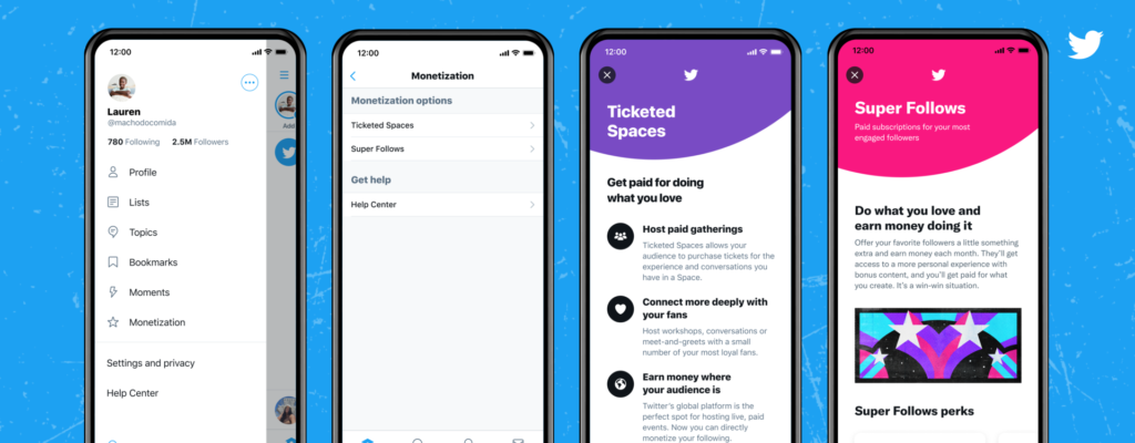 Twitter is now accepting applications for Ticketed Spaces and Super Follows subscriptions